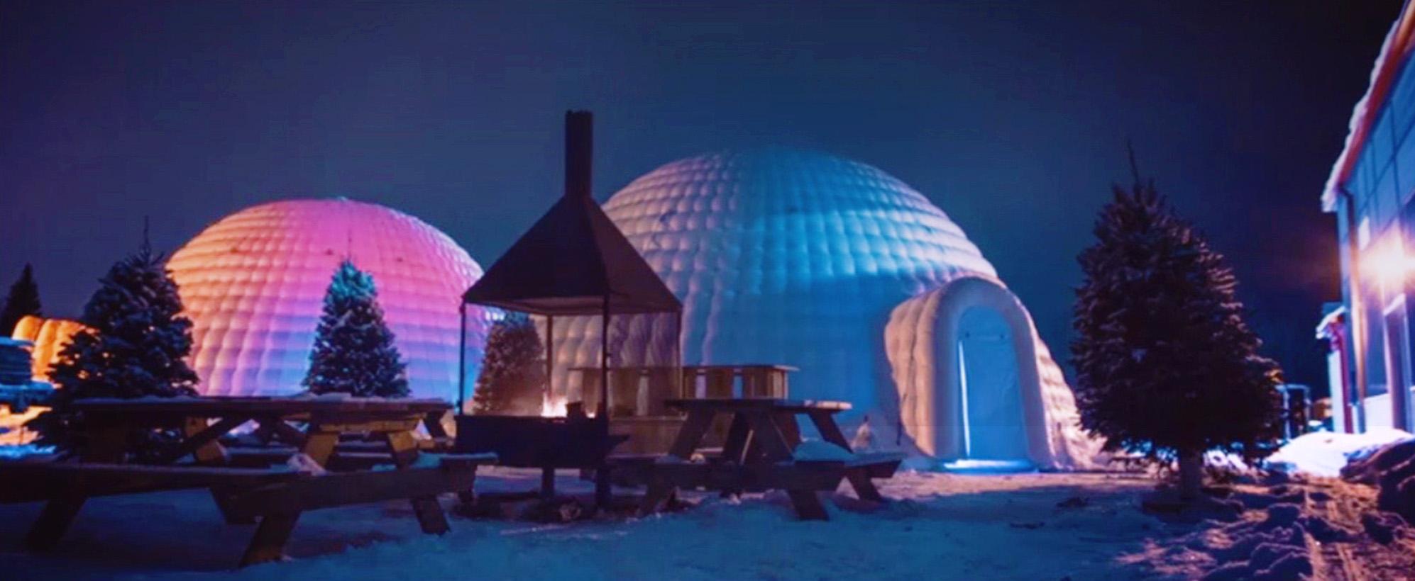 location de tente igloo au centre-du-québec.