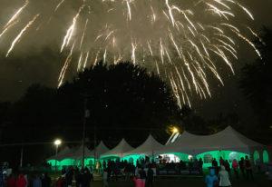 pyrotechnie réalisé par Chapiteaux CDQ, centre-du-québec, drummondville, durant un événement public