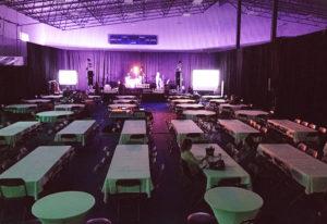 Stage pour un band de musique.