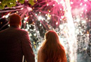 Pyrotechnie avec les mariés, réalisé par Chapiteaux CDQ